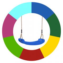 Sièges de balançoire - changement de couleur